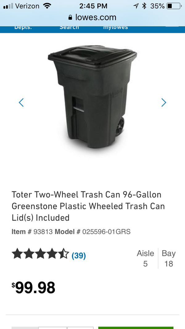 Toter 96 Gallon Curbside Trash Can For Sale In Charlotte Nc Offerup