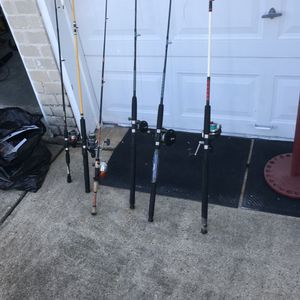Fishing rod and reel plus for Sale in Houston, TX