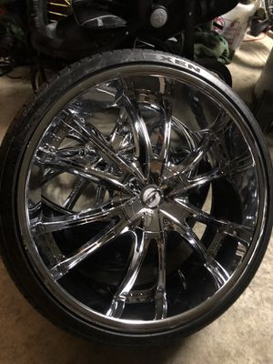 Photo 24 inch rims and tires like NEW 255-30-24 tires