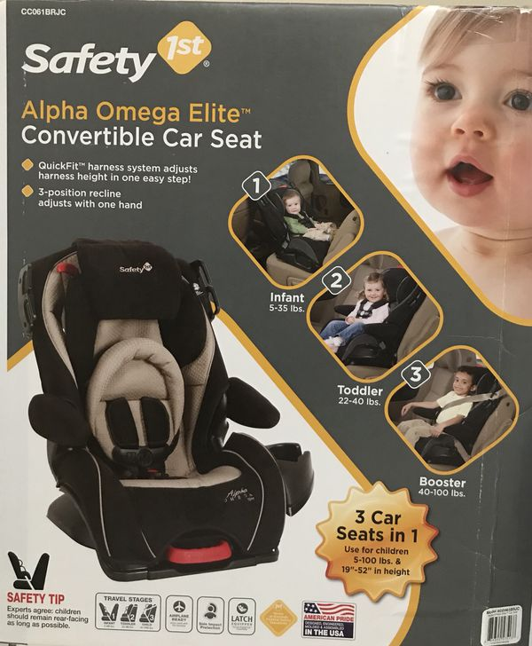Safety 1st Alpha Omega Elite Convertible Car Seat Including Box Owner S Manual