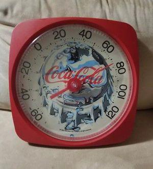 COCA COLA COKE ICE COLD BOTTLE CAP ROUND THERMOMETER VINTAGE -DAMAGED ~PLS READ for Sale in Woodbridge, VA