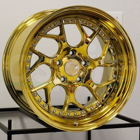 Aodhan Wheels 18 inch Gold Chrome Rims for Sale in Vernon, CA - OfferUp