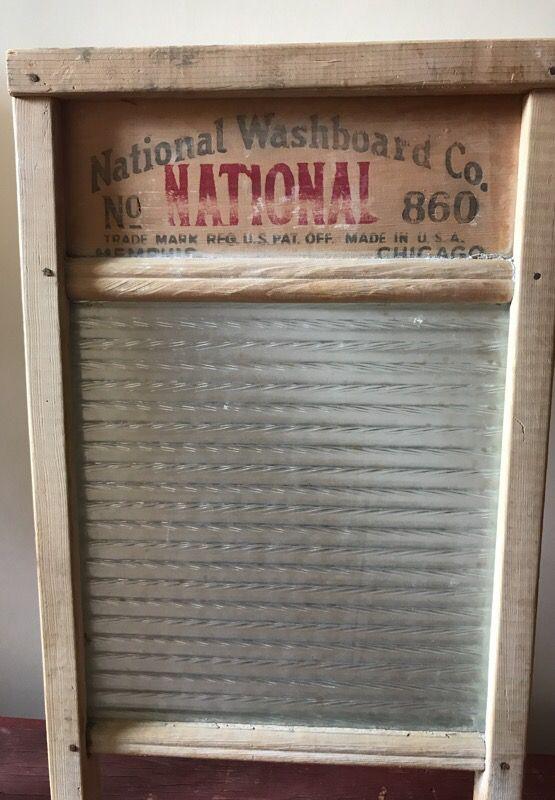 Antique National Washboard No. 860