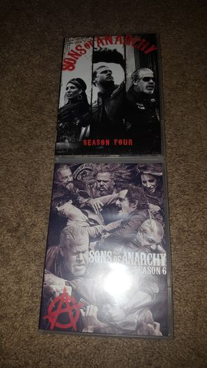 Sons of Anarchy season 4 and 6 complete for Sale in Pittsboro, NC