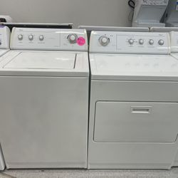 Whirlpool White Top Load Washer And Electric Dryer Set In Excellent Conditions With 4 Months Warranty  Thumbnail