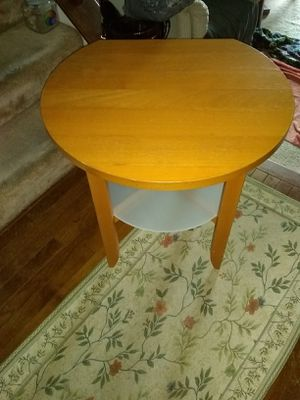 Wooden side table Glass shelf at the bottom for Sale in Alexandria, VA