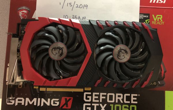 Used MSI GTX 1060 Gaming X 6gb for Sale in San Jose, CA - OfferUp