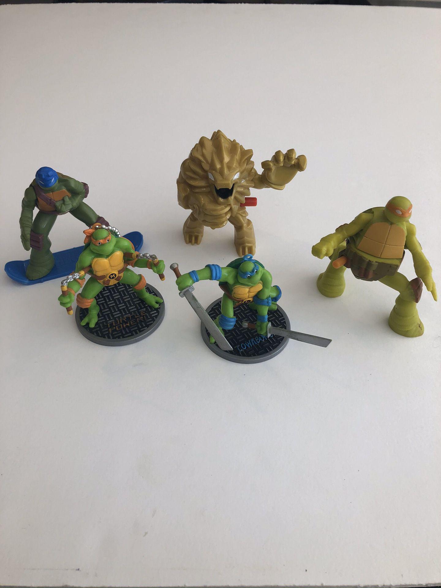 Ninja turtles figurines set of 5 action figures, Free Shipping