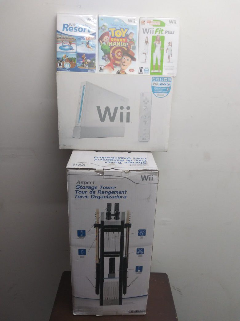 Wii Console And Tower Organizer