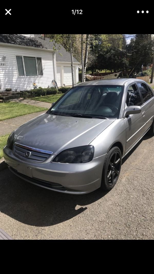 2001 Honda Civic Clean Le Check Engine Sd Sensor