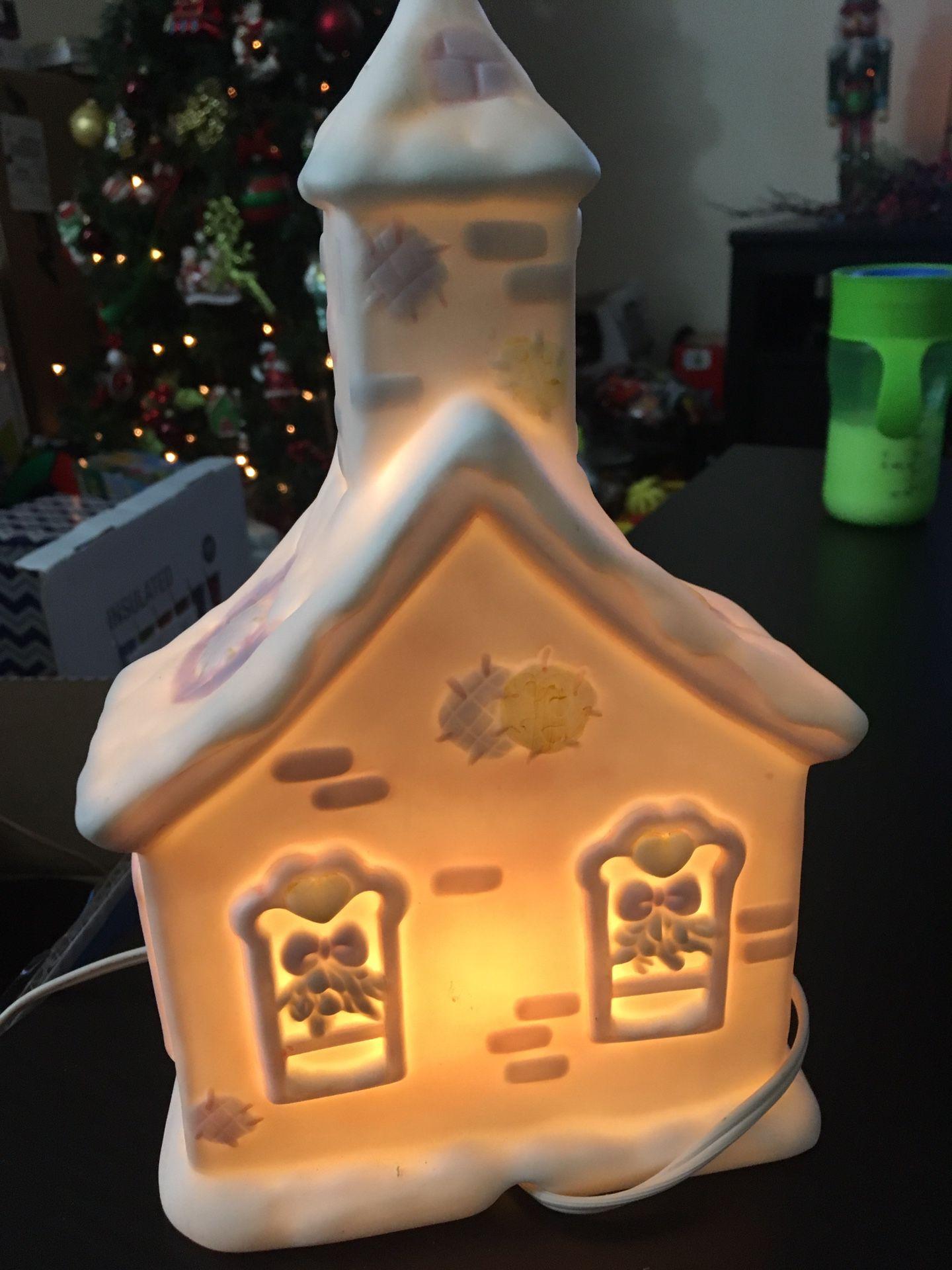 Electric light up precious moments chapel