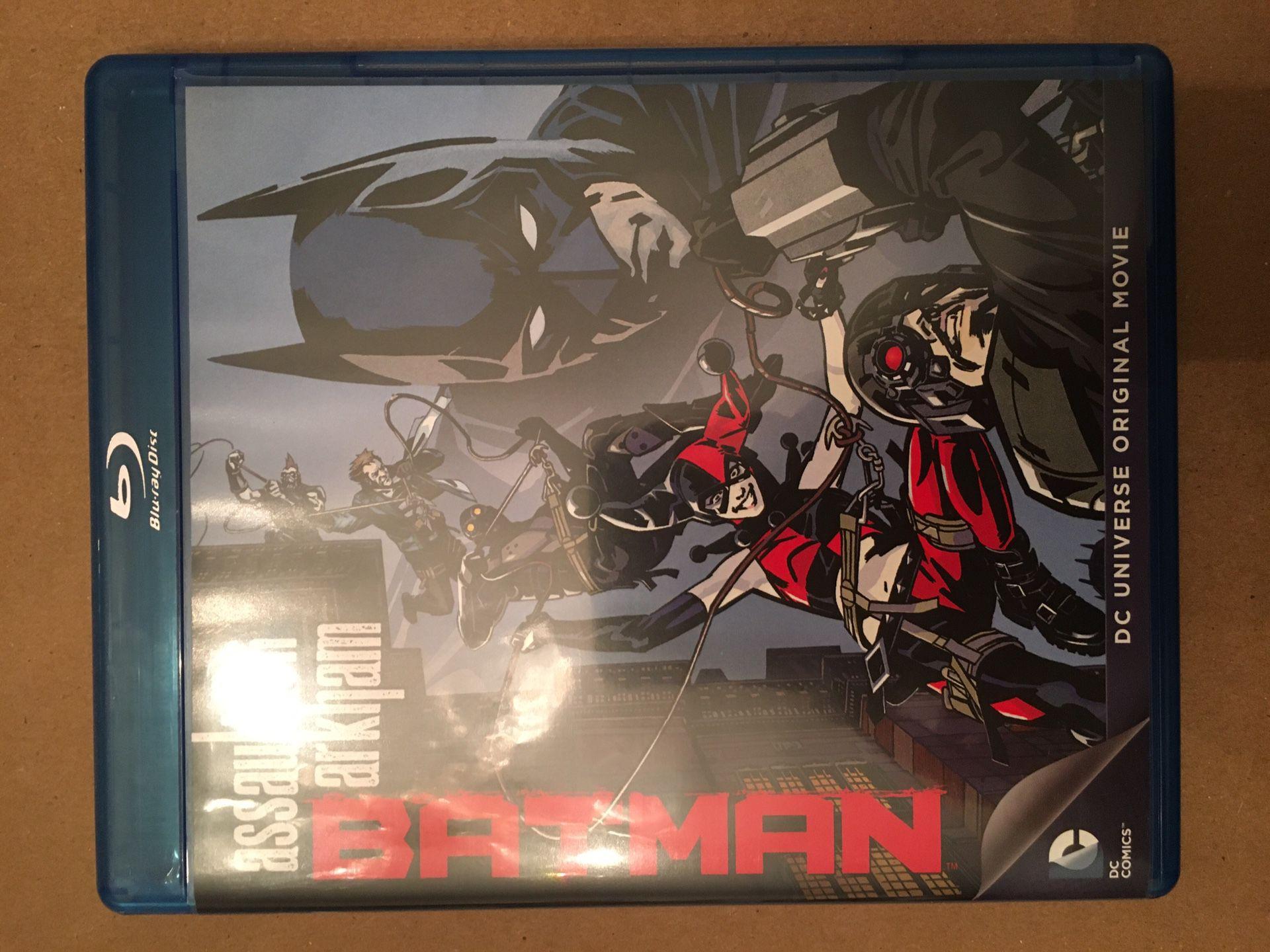 Batman: Assault on Arkham Blue Ray & DVD animated movie