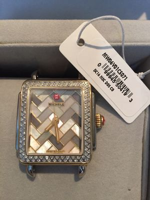"Michele Women's Deco 16"" Diamond Mosaic Watch Head MV06V01C5071 **Limited Edition** for Sale in Washington, DC"