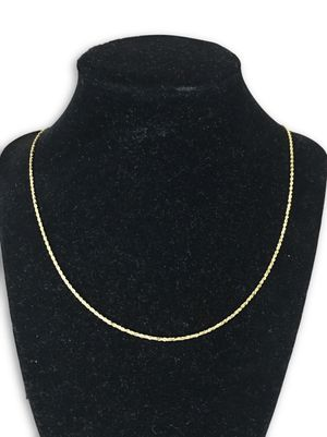 14k rope necklace for Sale in Alexandria, VA