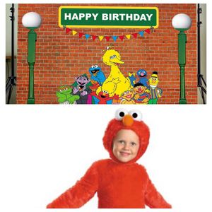 Sesame Street party backdrop and 2T Elmo costume for Sale in Washington, DC