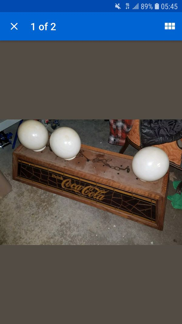 Vintage Coca Cola Pool Table Light With Two Globes Collectibles In Virginia Beach Va Offerup