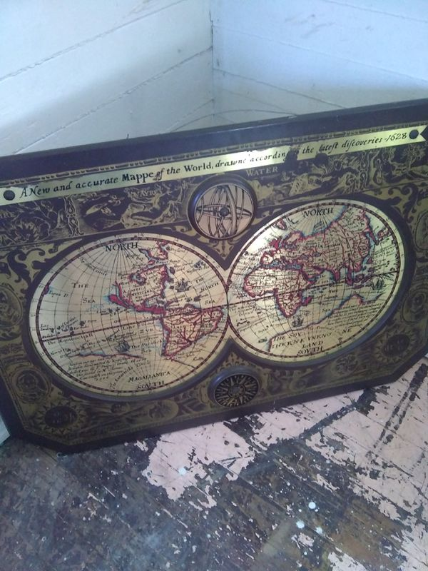 A New And Accurate Map Of The World 1628.Masketeers Map Of The Old World For Sale In Aiken Sc Offerup