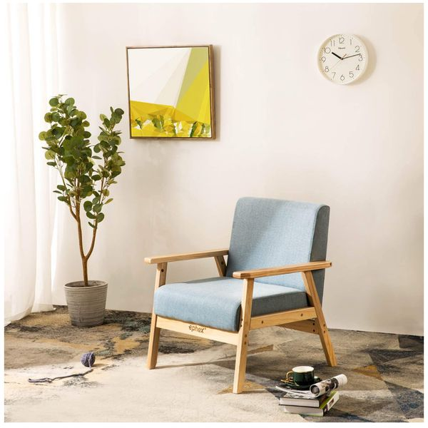 Accent Chair From Oggetti Designs Miami: Mid Century Modern Chair, Accent Chair Wooden Arm Chair
