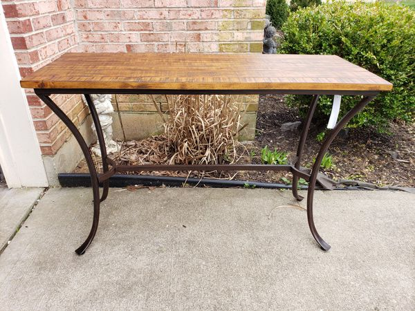 Superb Brand New Innsburck Solid Wood Console Table With Metal Legs In Medium Brown For Sale In Batavia Oh Offerup Ibusinesslaw Wood Chair Design Ideas Ibusinesslaworg