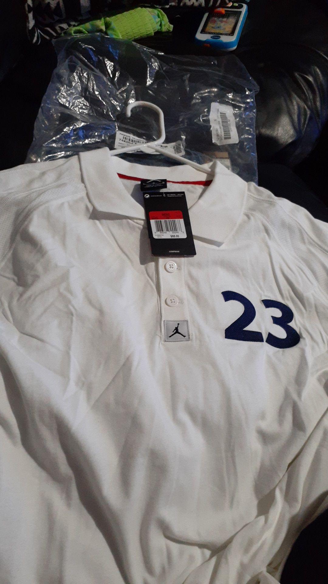 Brand new mens Jordan retro 12 white/royal blue polo shirt 30 obo