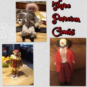 Three Poreclian Clowns for Sale in Scottsdale, AZ