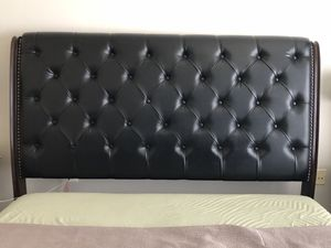 Churchill Upholstered Sleigh Bed King and mattress for Sale in Fort Belvoir, VA