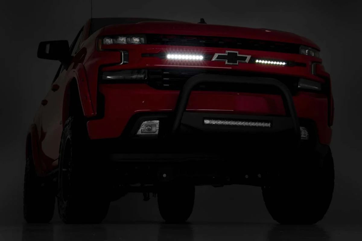 CHEVY DUAL 10IN LED GRILLE KIT (19-21 SILVERADO 1500) ..... CENTRAL TIRES