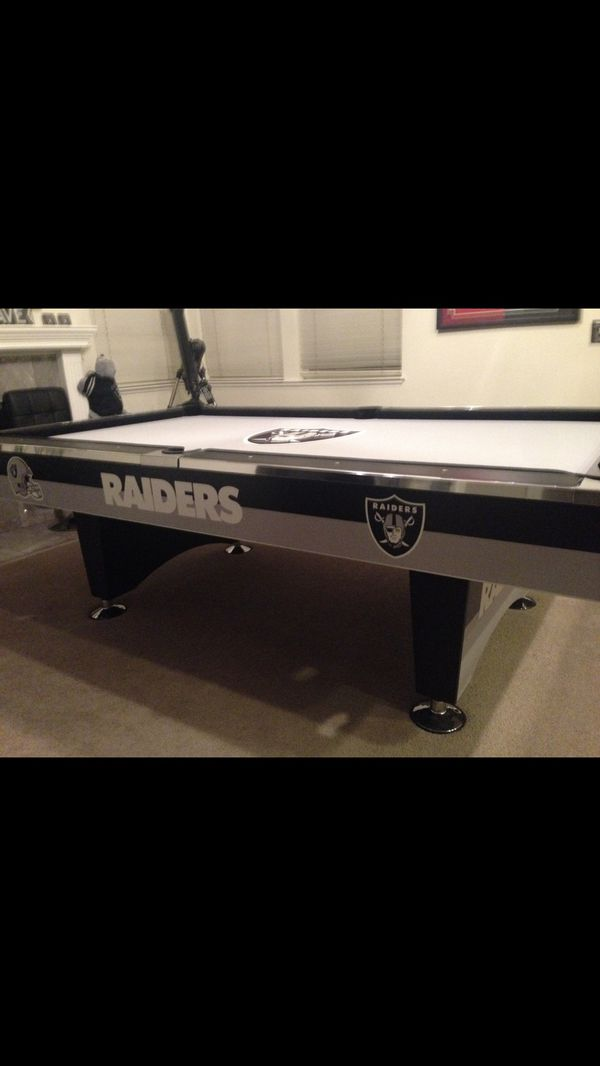 Raiders Pool Table For Sale In Tracy CA OfferUp - Raiders pool table