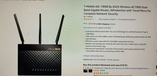 Asus T Mobile 802 11ac Wifi Router - Best Router in The World