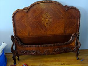 Antique wood headboard and footboard set for Sale in New York, NY