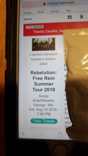 2 tickets to Revolution and Common Kings at the George Amphitheater for Sale in Seattle, WA