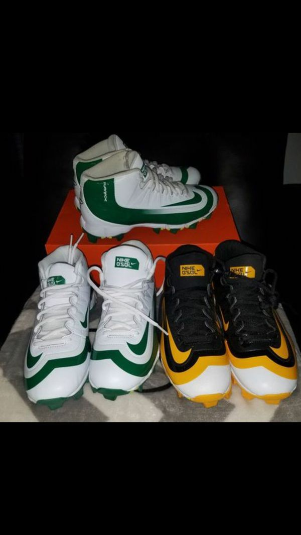 19730ac67d79 Sz 5 youth ONLY black and yellow Nike Huarache brand new cleats. Converse  ...