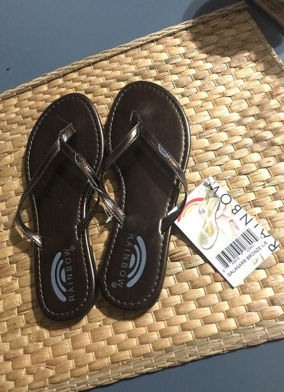 67f506a9b389e0 Rainbow galanarr bronze sandals for Sale in San Diego