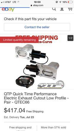 QTC electronic exhaust tips Thumbnail