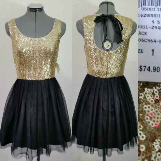 92511db2ba7 New size 1 gold Sequin prom dress for Sale in Tempe