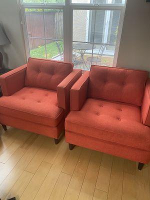 Photo Orange accent chairs