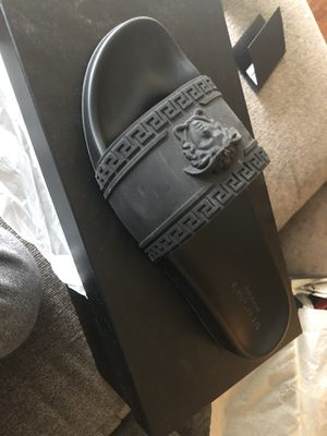 Authentic Versace slippers size 12 for Sale in Washington, DC