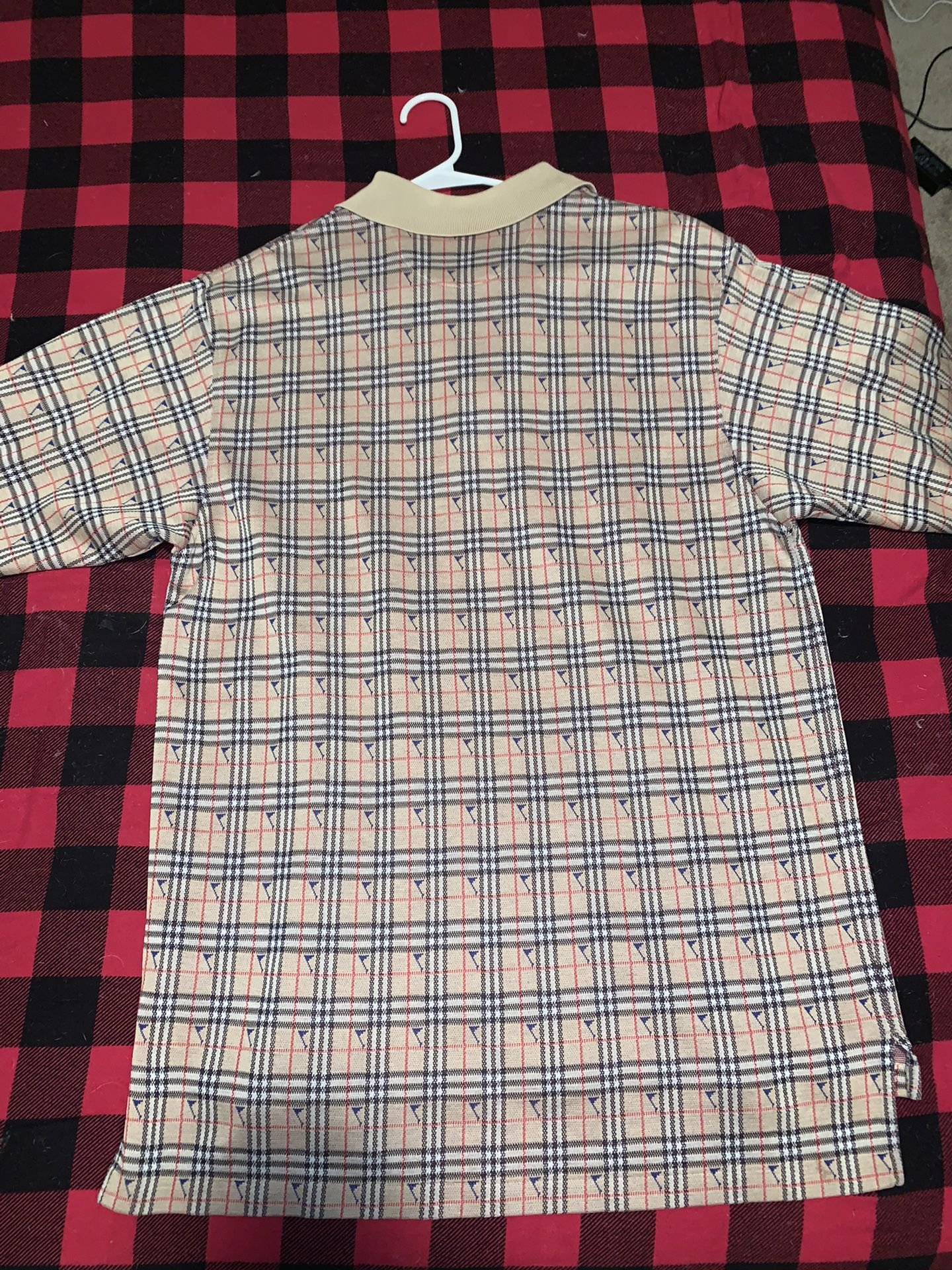 Burberry Plaid Polo Shirt