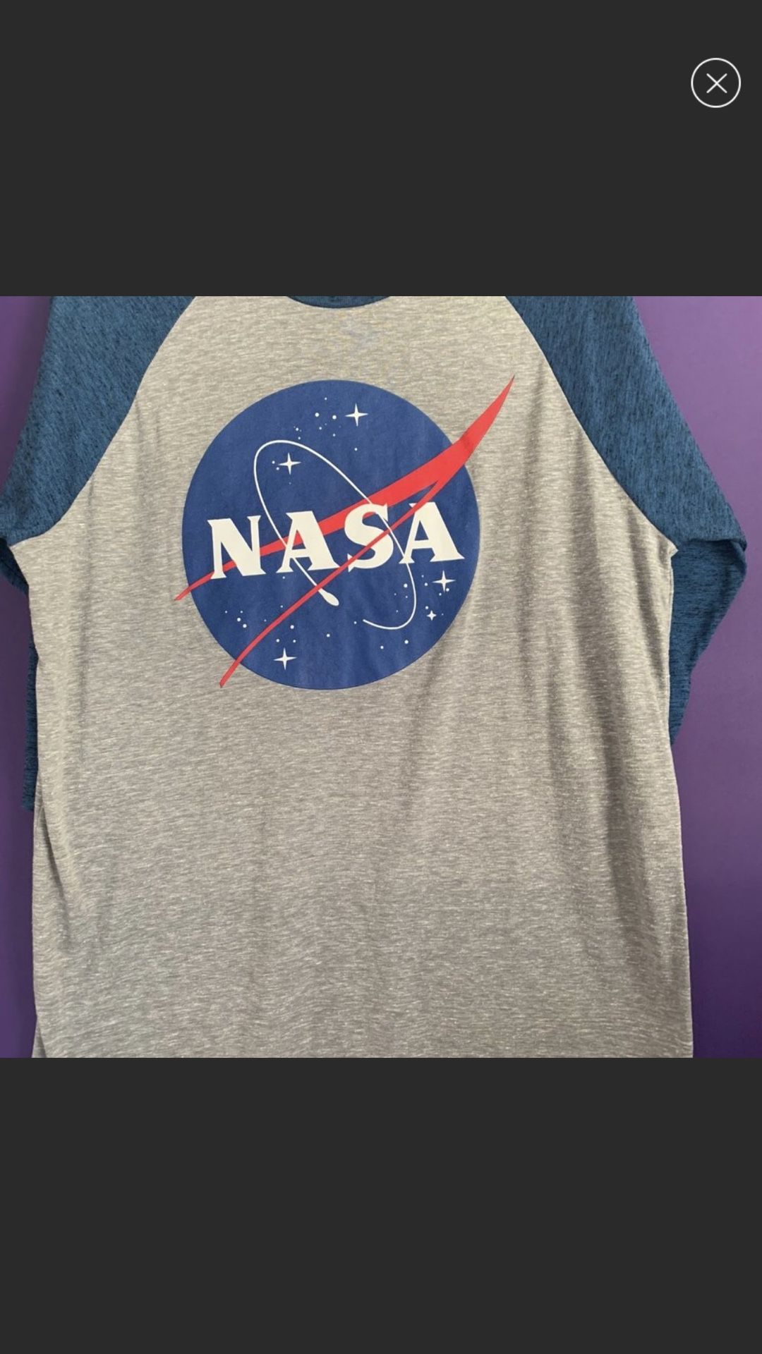 NASA Man you sure no tags Men's 3/4 Sleeve Cotton and polyester Super soft Men's Shirt New