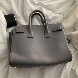 Authentic Saint Laurent Grey Gray Mini Classic Sac Dr Jour Crossbody bag Thumbnail