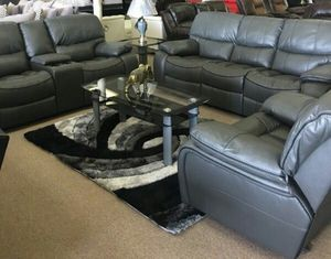 Brand New Grey 3-PC Living Room Recliner Set for Sale in Pompano Beach, FL