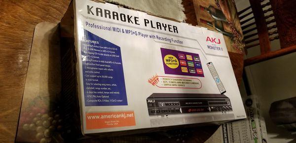 Akj karaoke MP3 + G & midi player for Sale in Clearwater, FL - OfferUp