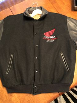Vintage Fox Honda Ride Red XL jacket Thumbnail