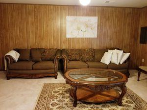 Mahogany Wood sofa and love seat for Sale in Woodbridge, VA