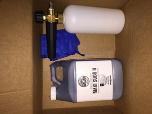 Foam Cannon pressure wash Attachment and Chemical Guys soap for Sale in Rowland Heights, CA
