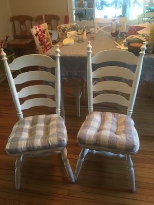 Vintage ladder back chairs for Sale in Frederick, MD