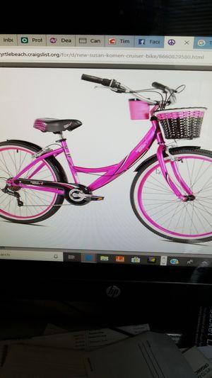 New Susan Komen cruiser bike for Sale in Myrtle Beach, SC
