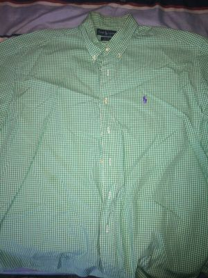 Green/White Polo Button Up (Short Sleeve) XL for Sale in Philadelphia, PA