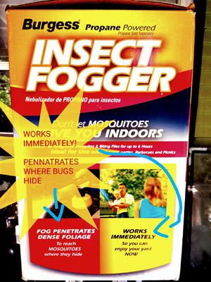 Burgess OUTDOOR insect fogger. Propane nor Fogging Soluion included for Sale in Puyallup, WA