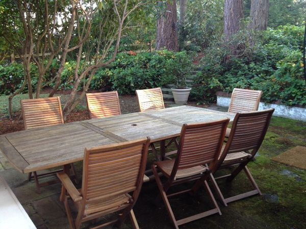 Tensen 8 Person Balau Wood Patio Table For In Mercer Island Wa Offerup